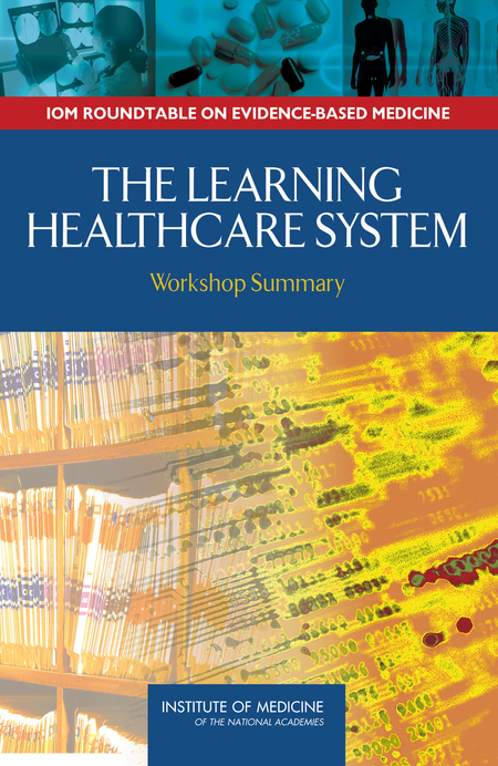 Cover page of IOM report - The Learning Healthcare System