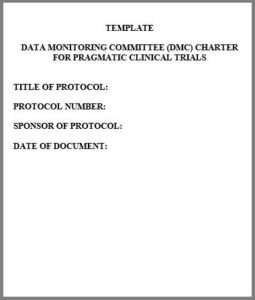 Data monitoring committee template